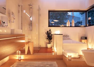 Badezimmer-Kerzenlicht